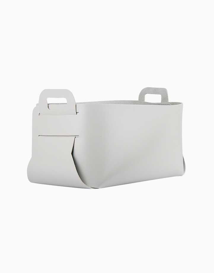 Leather Catch-All (Large) by cozsho   Soft Gray