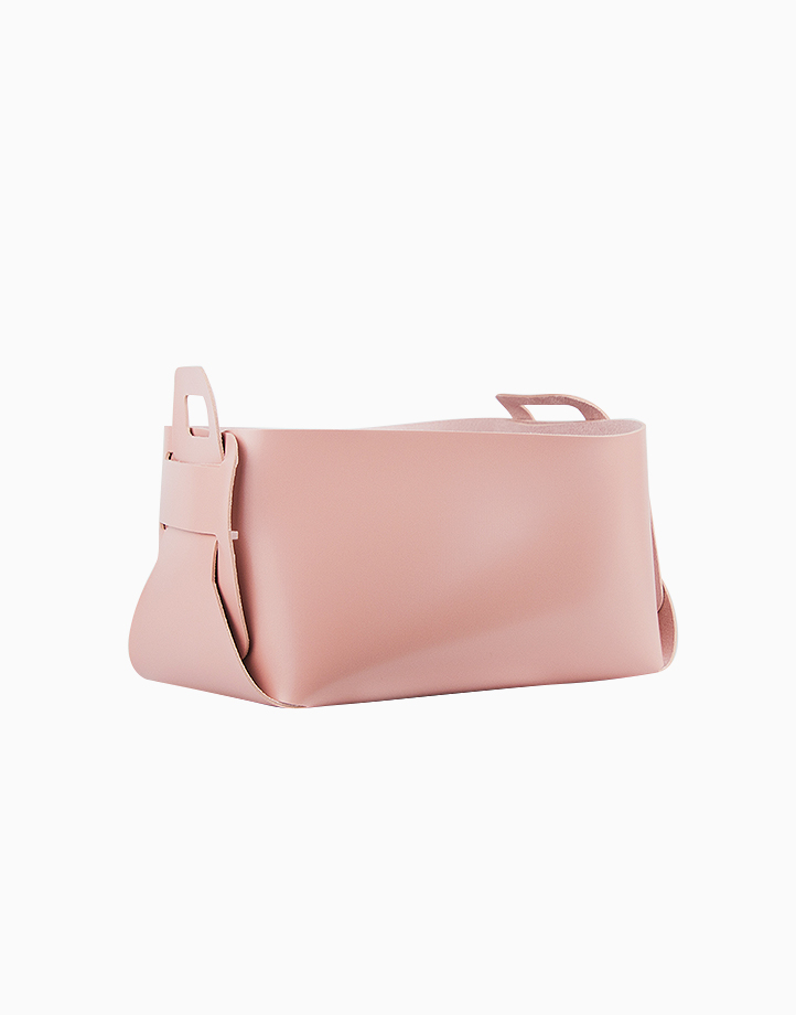 Leather Catch-All (Large) by cozsho   Soft Pink