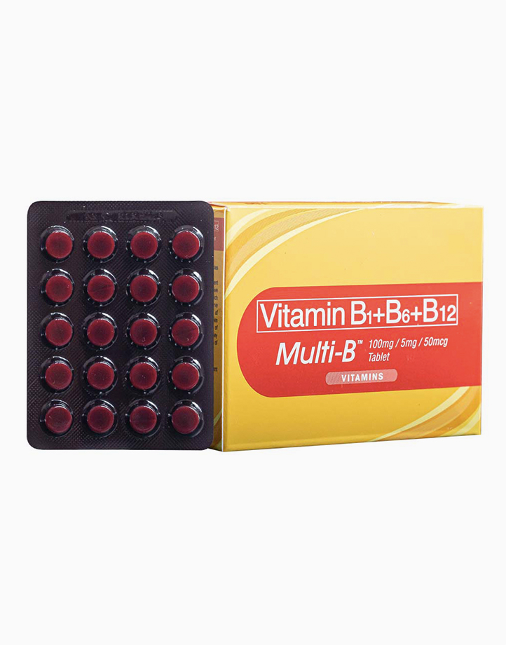 United Home Multi-B Vitamin B Complex - B1+B6+B12 (Blister Pack of 40 Tablets) by United Home