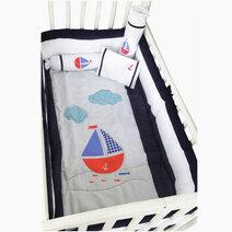 Kozy blankie sail boat crib set