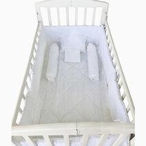 Kozy blankie white thread crib set