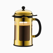 Chamboard french press coffee maker 12cups   gold