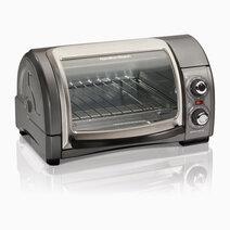 Hamilton beach 4 slice easy reach oven with roll top door 1