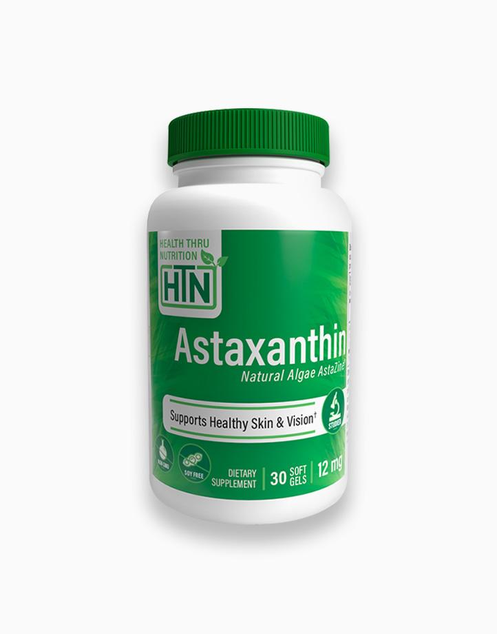 Natural Astaxanthin AstaZine (12mg x 30 Softgels) by Health Thru Nutrition