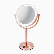 Vanitibasics 8  double sided super bright led mirror with rose gold finish