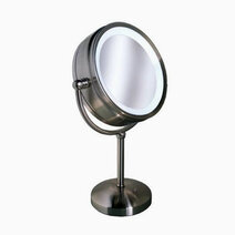 Vanitibasics clarity 8 3 4  double sided lighted vanity mirror with satin chrome finish %288x 1x%29