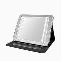 Vantibasics 22cm double sided bright illuminated led mirror with leather case