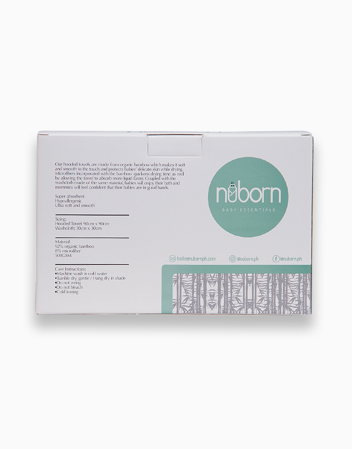 Bamboo Hooded Towel & Washcloth Set - Grey Koala by Nuborn Baby Essentials
