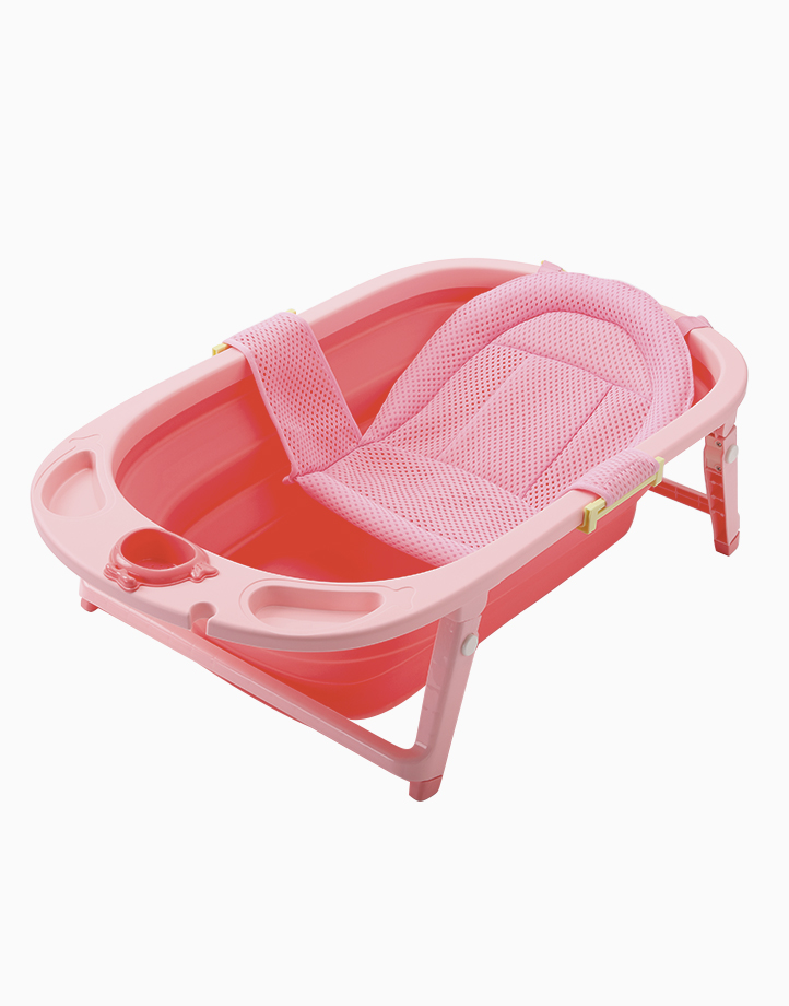 The 3-Fold Tub Set by The Baby Tub | Coral Pink