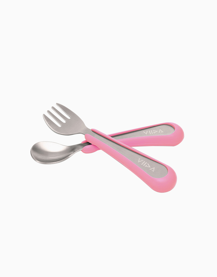 Souffle Spoon and Fork Small by VIIDA   Taffy Pink