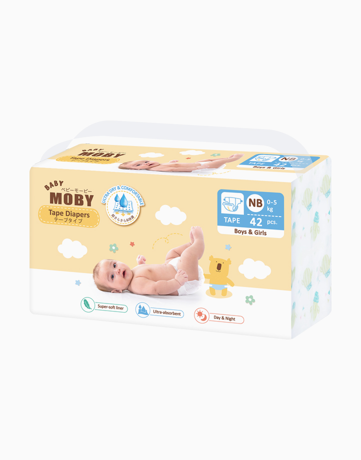Diaper Taped - Newborn Size by Baby Moby