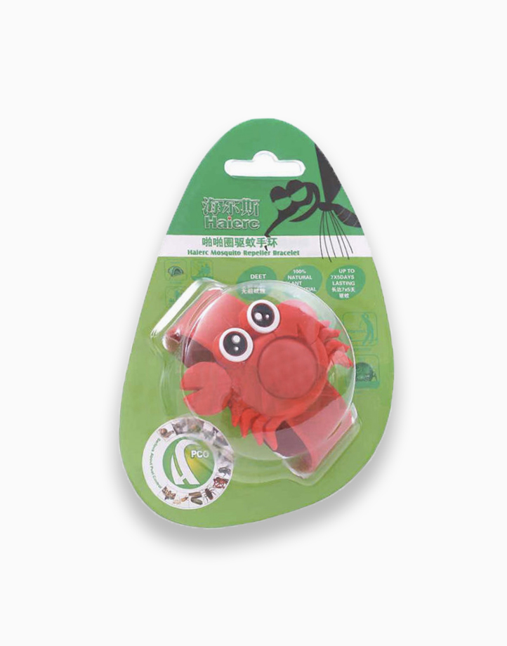 Kawaii Mosquito Repeller Bracelet with 5 refills + 2 free refills (Red Crab) by Haierc