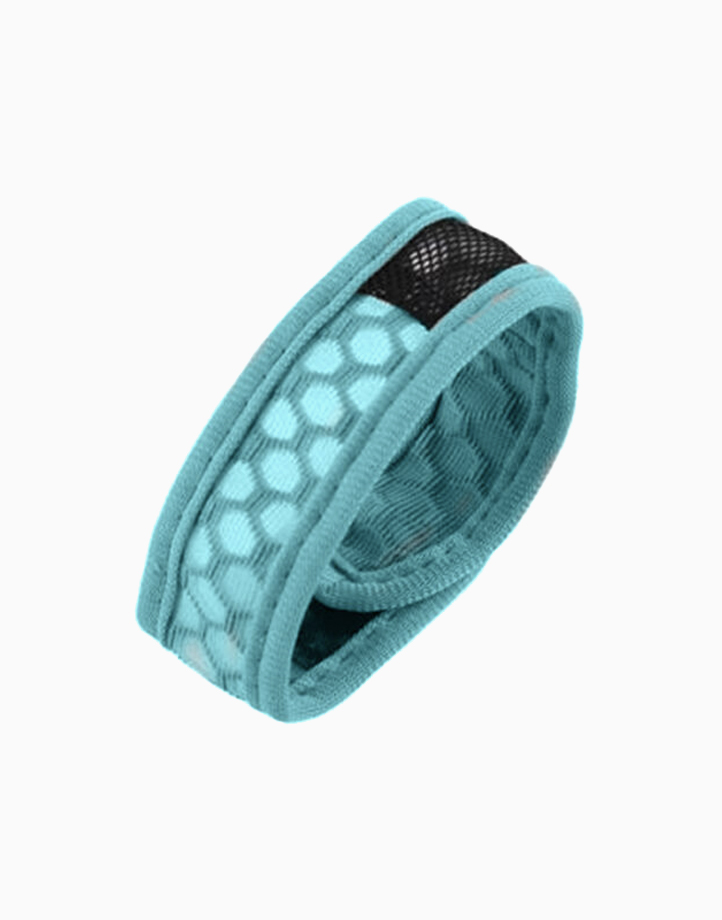 Sporty Mosquito Repeller Bracelet with 2 refills + 2 free refills by Haierc | Blue Strap
