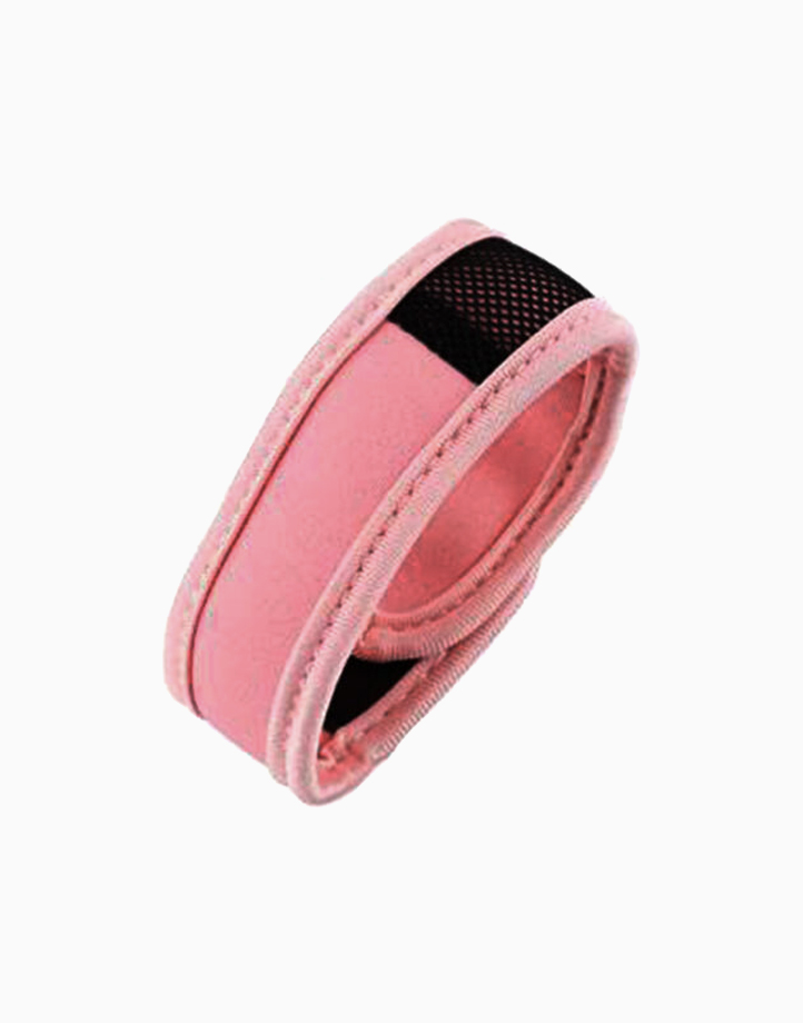 Sporty Mosquito Repeller Bracelet with 2 refills + 2 free refills by Haierc | Pink Strap