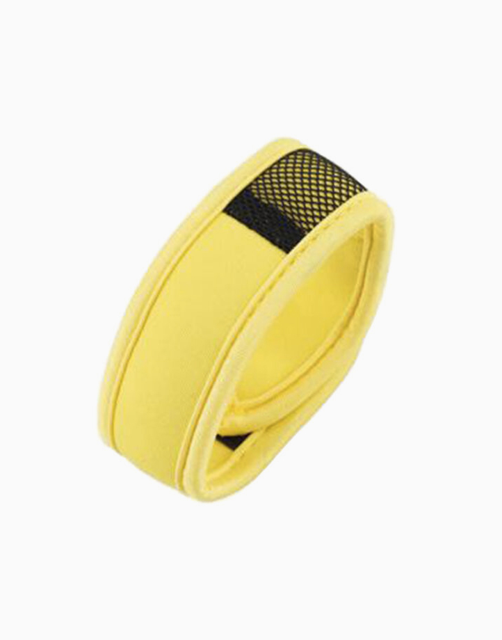 Sporty Mosquito Repeller Bracelet with 2 refills + 2 free refills by Haierc | Yellow Strap