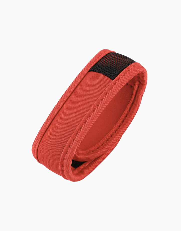 Sporty Mosquito Repeller Bracelet with 2 refills + 2 free refills by Haierc | Red Strap