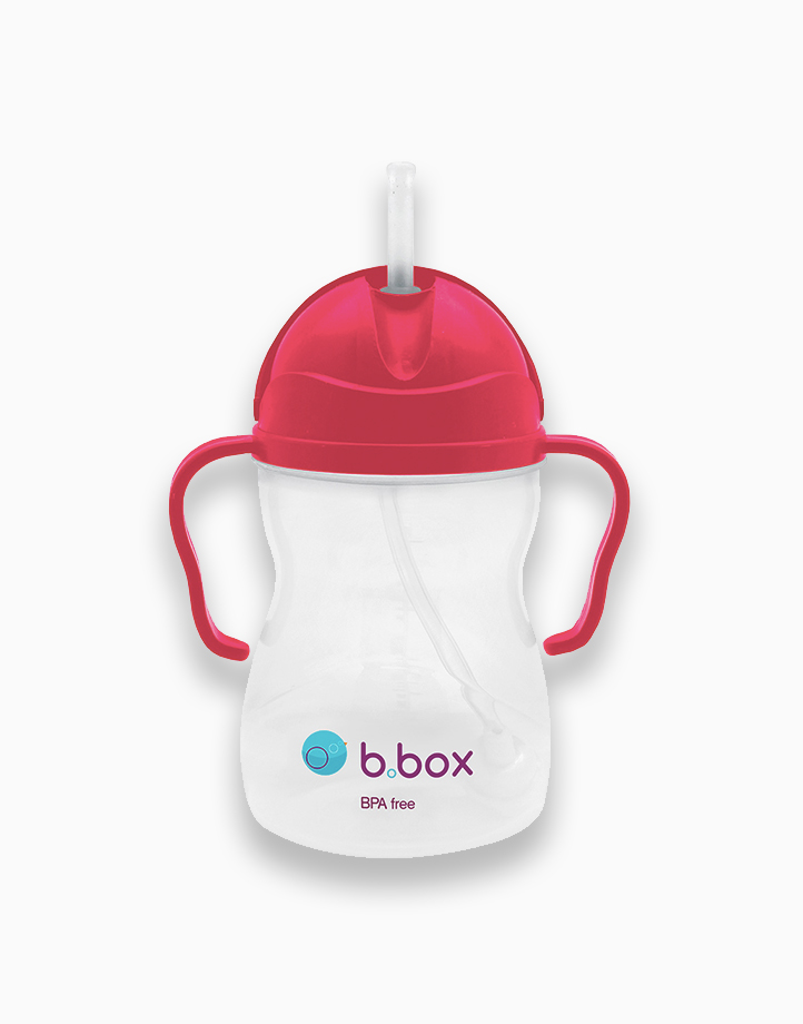 Sippy Cup with Weighted Straw (8oz) by b.box | Raspberry