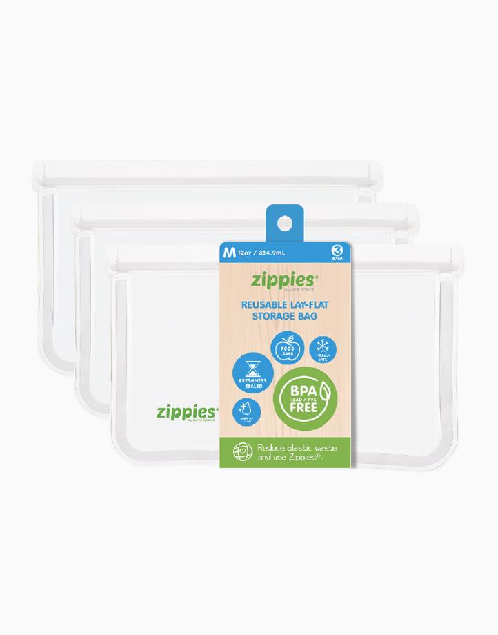 Reusable Lay Flat Bags (Medium, 3s) by Zippies