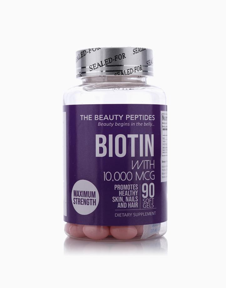 Biotin Maximum Strength (10,000mcg, 90 Softgels) by The Beauty Peptides