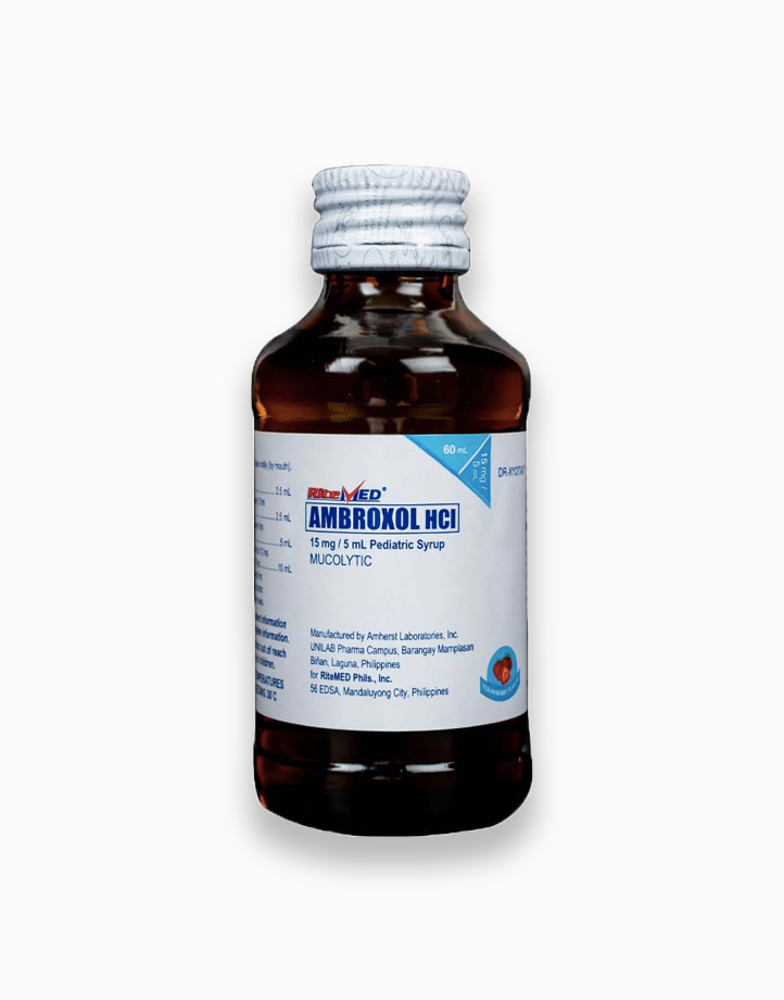 RiteMed Ambroxol Ped 15Mg Syrup 60 Bottle SS Ph by RiteMed