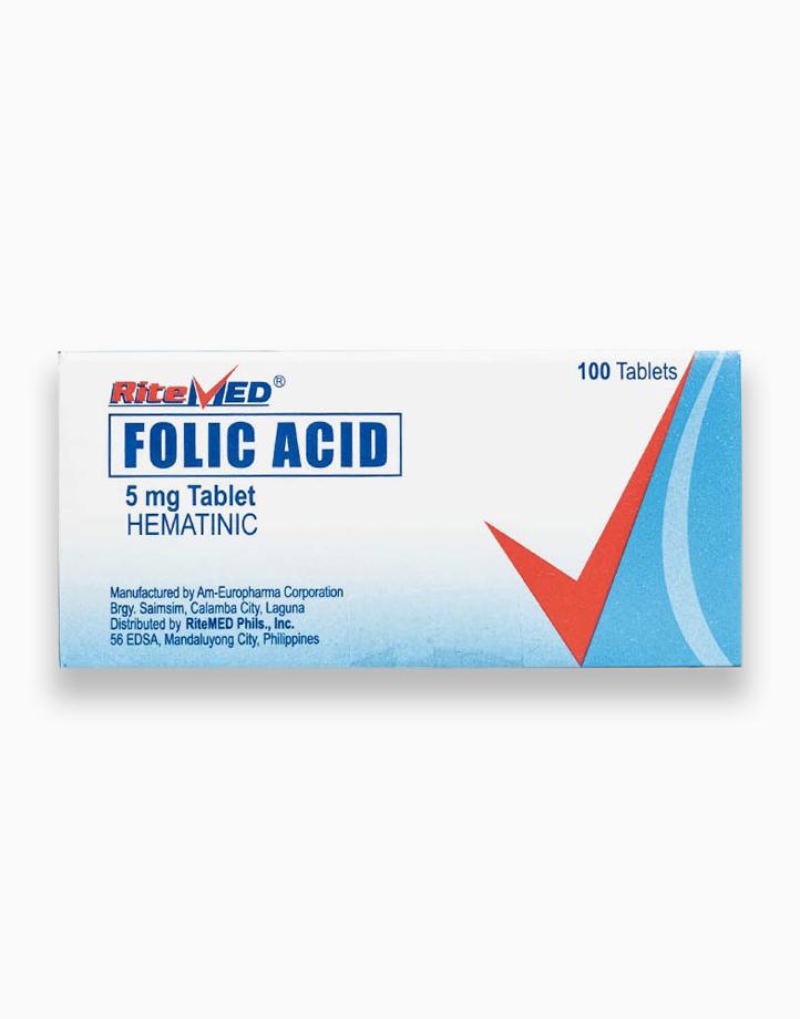 RiteMed Folic Acid 5Mg Tab 100 Box SS Ph by RiteMed