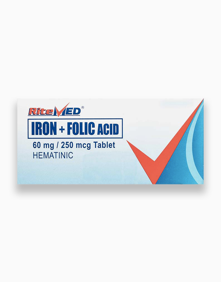 RiteMed Iron+Folic Tab 100 Box SS Ph by RiteMed