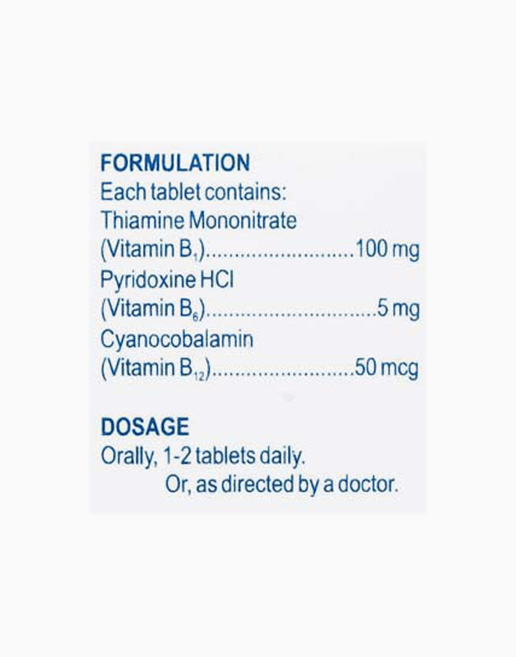 RiteMed Vitamin B Complex Tab 100 Box SS Ph by RiteMed
