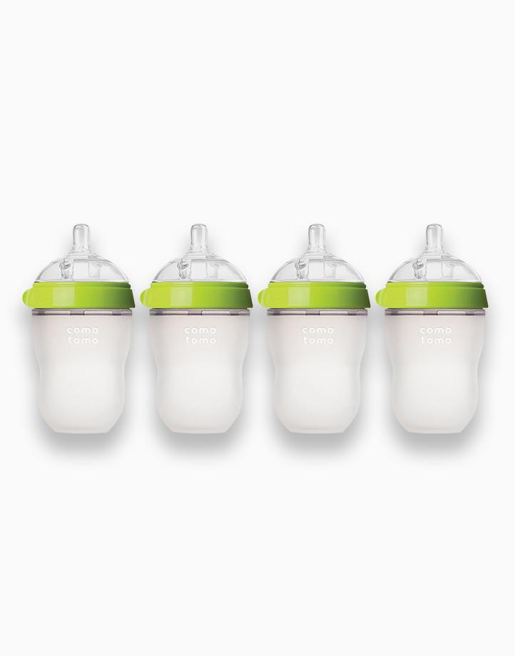 Silicone Baby Bottle - Bundle of 4 (8oz) by Comotomo   Green