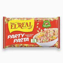 El real party pasta rainbow salad macaroni