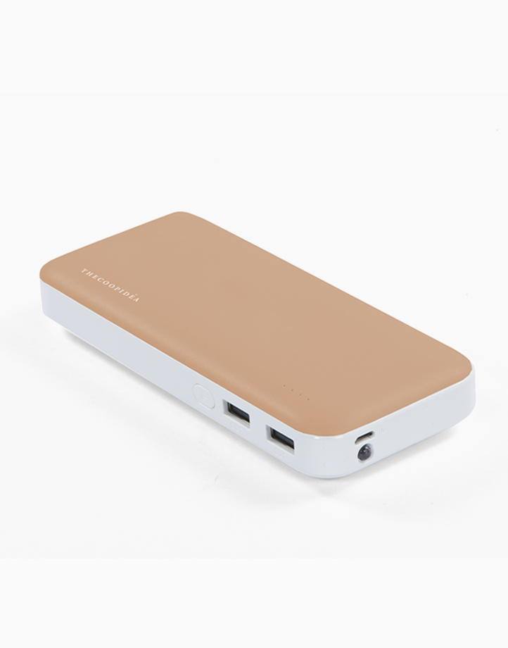 Clay Pro Dual USB 15000mAh Powerbank by thecoopidea | Gold