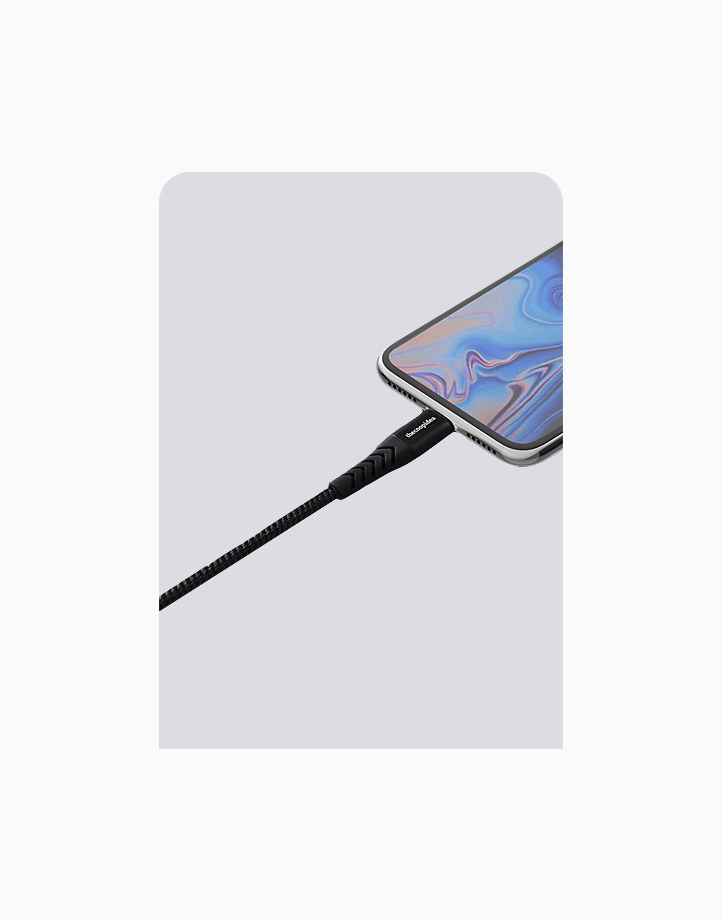 Flex Pro 1.2m MFI Lightning Cable for iPhone by thecoopidea | Black