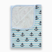 Bamboo stretch swaddle %28double layered%29  anchor print