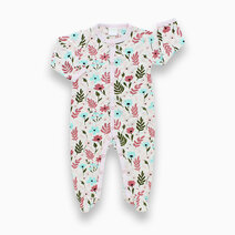 Bamboo footed romper  floral print