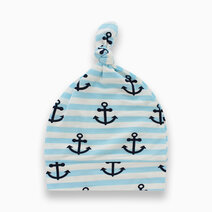 Bamboo knotted hat  anchor print