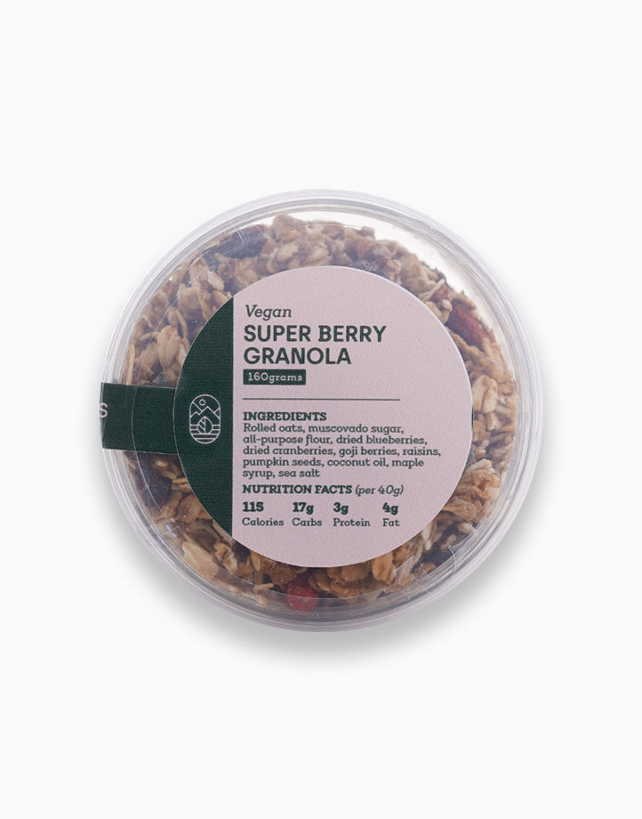 Vegan Super Berry Granola (160g) by Earth Desserts