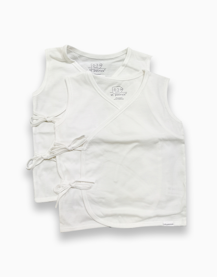 Tie-Side Shirt Sleeveless by St. Patrick Baby | Pure White