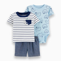 Carter s 3 piece sloth little short set  1h351110 %283%29