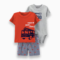 Carter s 3 piece firetruck little short set  1h350610 %285%29
