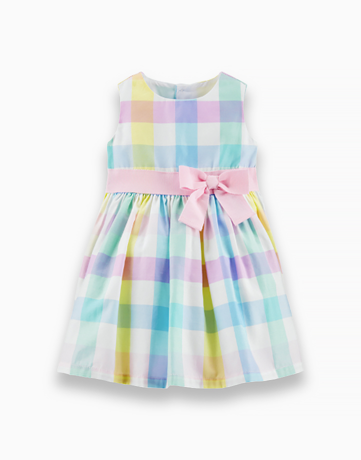 Gingham Dress with Ribbon - 1H729610 by Carter's | 3M