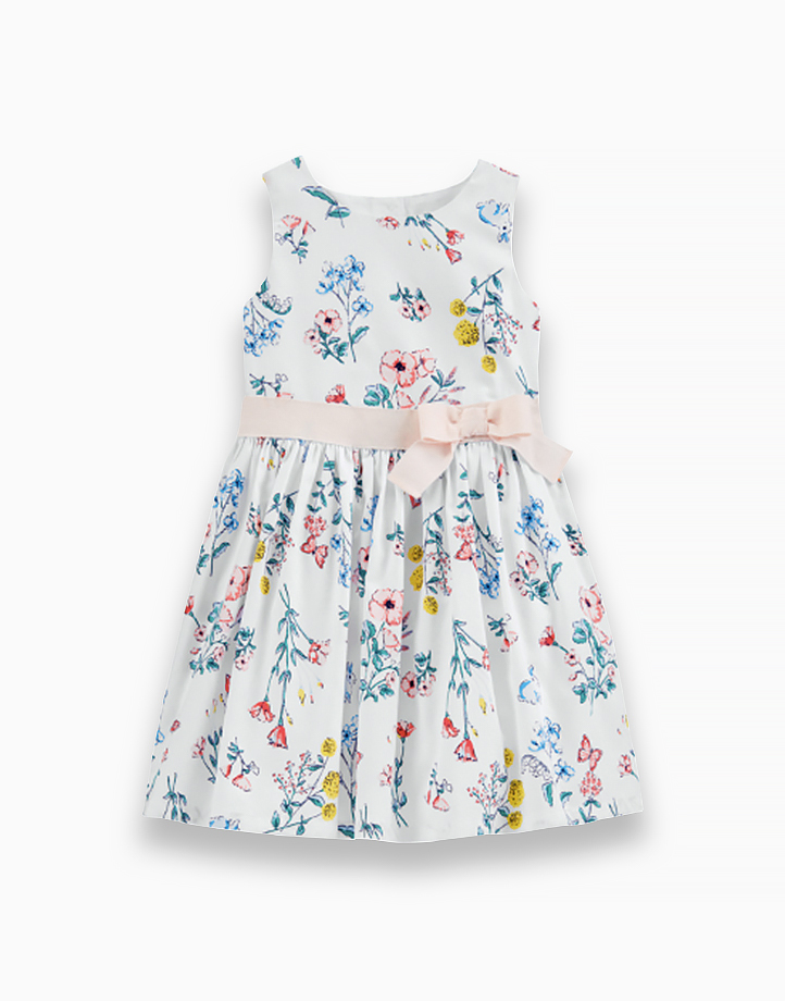 Floral Dress with Ribbon - 2H473510 by Carter's | 3T