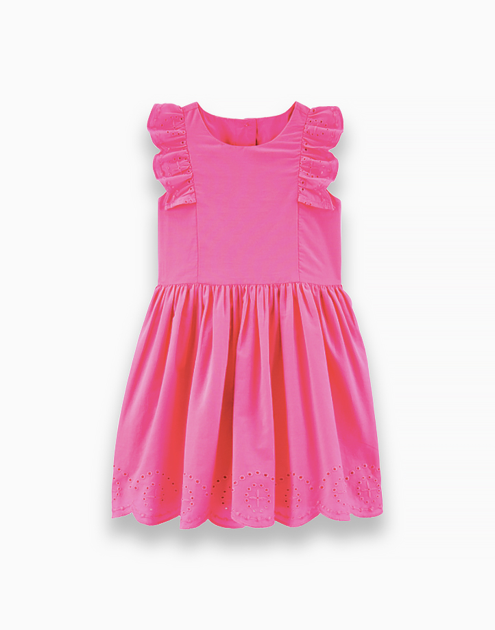 Embroidered Floral Poplin Dress - 2H473610 by Carter's | 3T