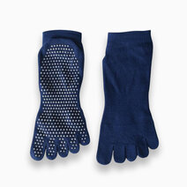 Fitness athletics yoga grip socks navy blue small