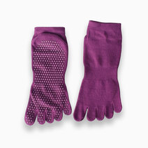 Fitness athletics yoga grip socks red purple small
