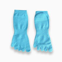 Fitness athletics yoga grip socks turquoise small