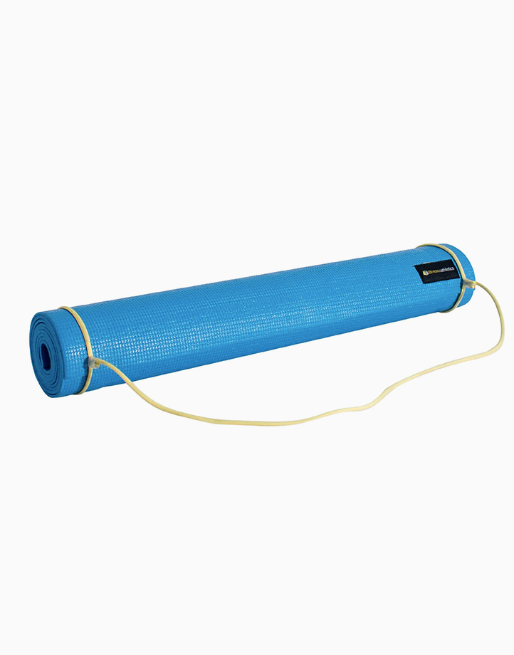 Fitness & Athletics Yoga Mat 3mm by Fitness & Athletics  | Blue