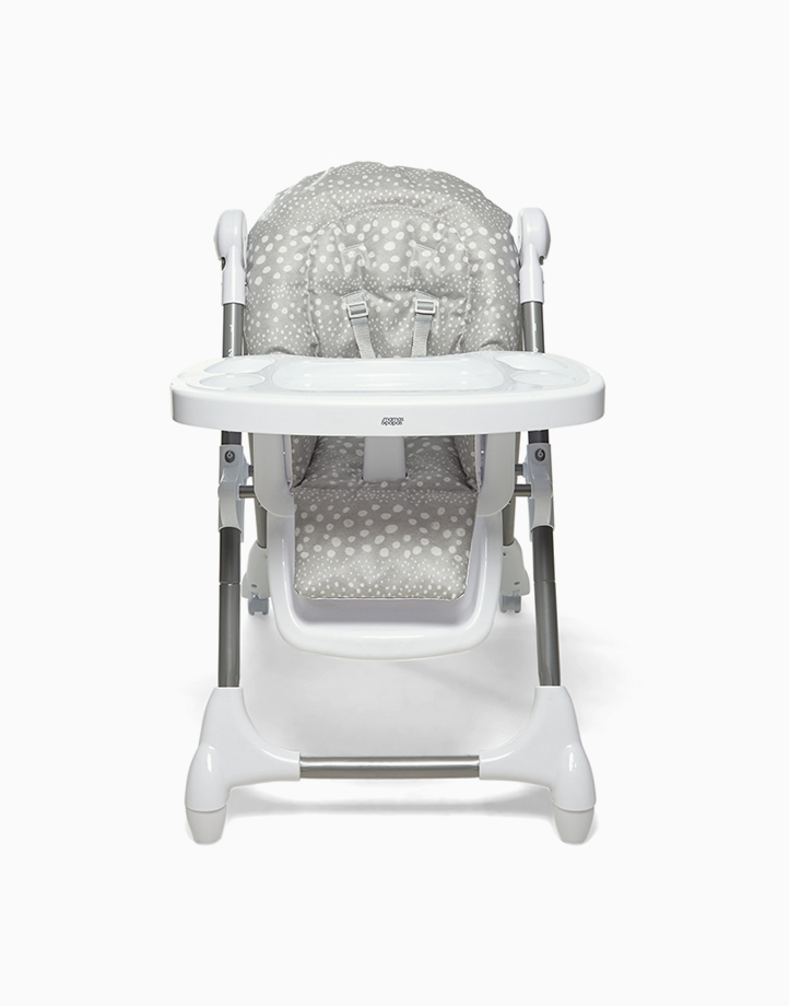 Snax Adjustable Highchair with Removable Tray Insert and Freestanding, Compact Fold by Mamas and Papas   Grey Spot