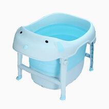 Re dog foldable bath tub blue 1