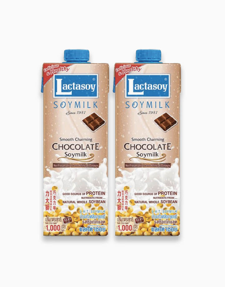 Chocolate Soy Milk (1L x 2) by Lactasoy