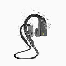 Endurance dive waterproof wireless in ear sport headphones with mp3 player black