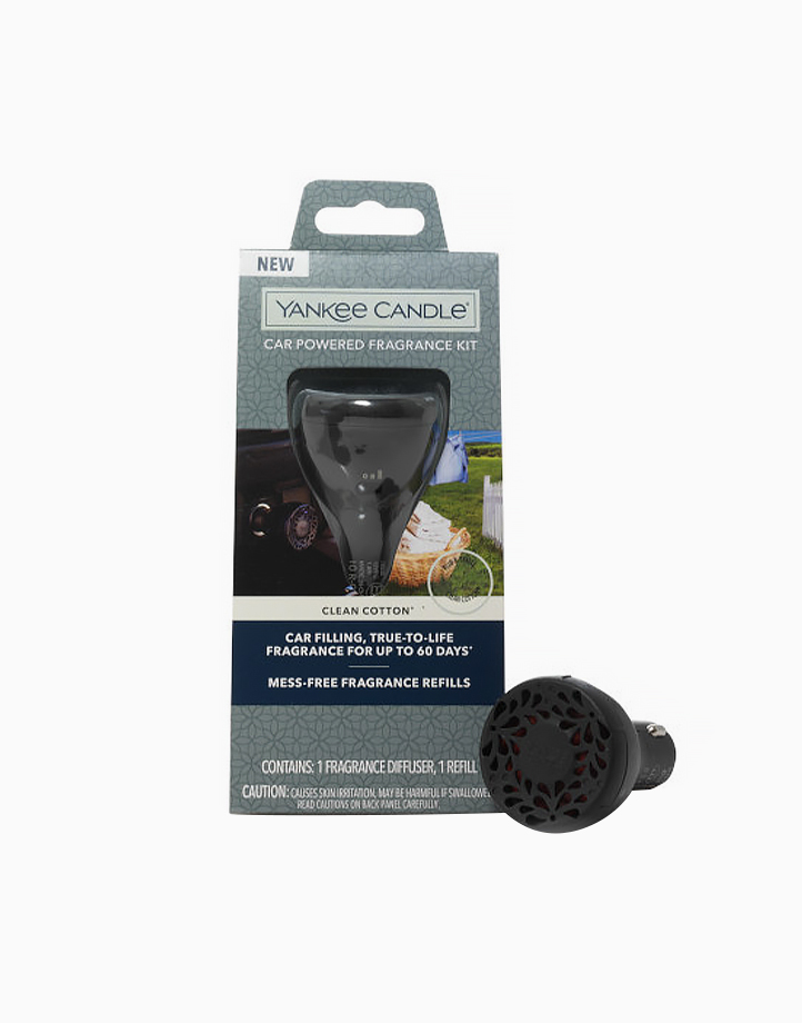 Car Powered Fragrance Diffuser Kit by Yankee Candle | Clean Cotton